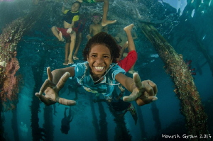 The Awesome kids at Aborek Jetty by Henrik Gram Rasmussen 